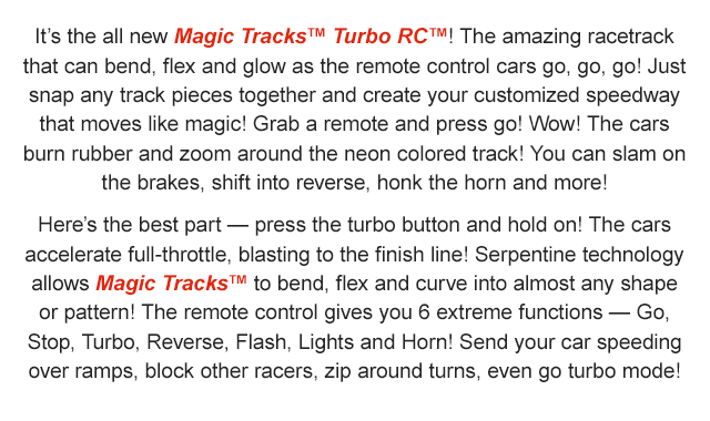 Magic Tracks Turbo Rc The Amazing Racetrack That Can Bend Flex